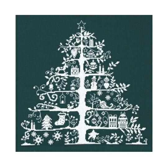 DMCクロスステッチ刺繍キット JPBK557G 「Christmas Tree」 クリスマスツリー 緑