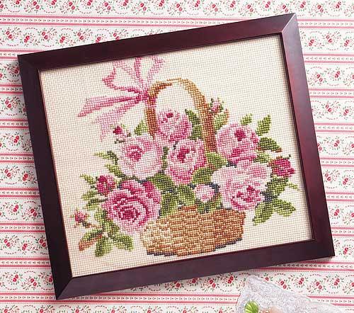 Olympus刺繍キット887「バラの花かご」