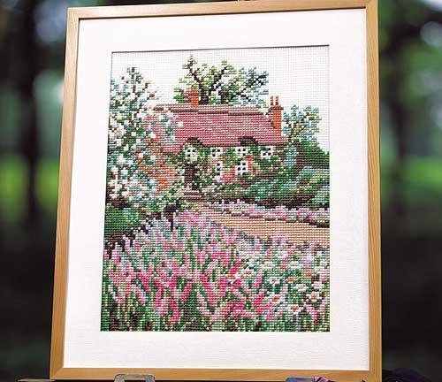 Olympus刺繍キット849「田舎家」