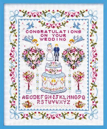 Olympusクロス刺繍キット7153「ハッピーウェディング」 Happy Wedding