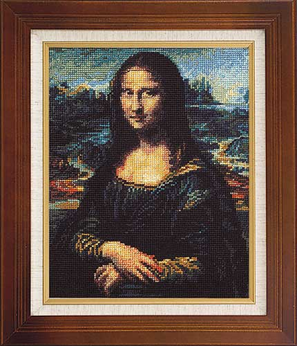 Art Gallery SeriesOlympusクロス刺繍キット7027「モナ・リザ」(レオナルド・ダ・ヴィンチ作)