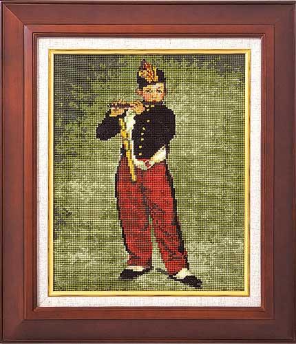 Art Gallery SeriesOlympusクロス刺繍キット7029「笛を吹く少年」(マネ作)