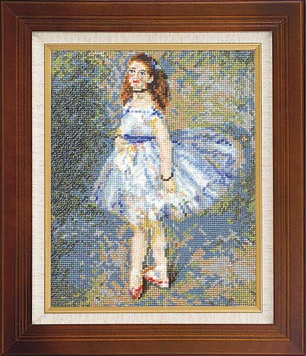 Art Gallery SeriesOlympusクロス刺繍キット7030「踊り子」(ルノワール作)