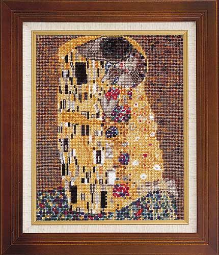 Art Gallery SeriesOlympusクロス刺繍キット7031「接吻」(クリムト作)