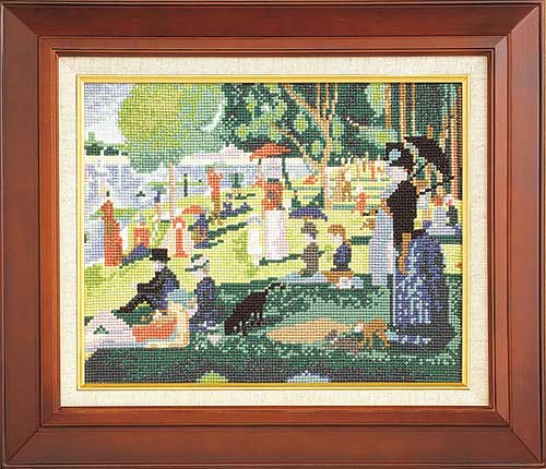 Art Gallery SeriesOlympusクロス刺繍キット875「グランド・ジャット島の日曜日」(スーラ作)