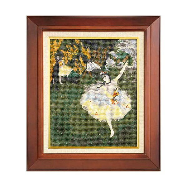 Art Gallery SeriesOlympusクロス刺繍キット876「舞台の踊り子」(ドガ作)