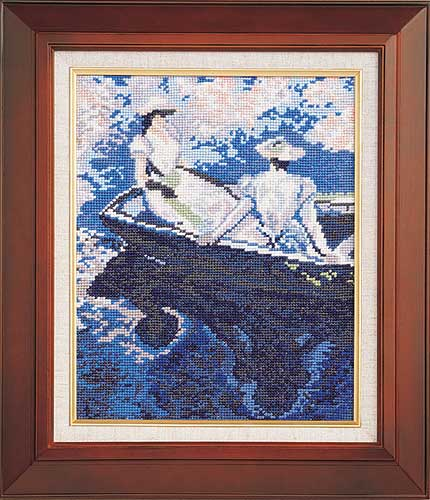 Art Gallery SeriesOlympusクロス刺繍キット877「舟遊び」(モネ作)