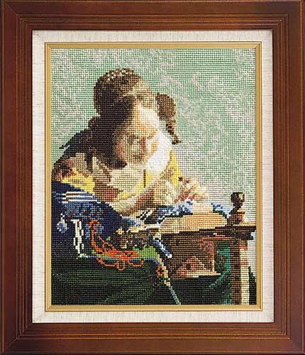 Art Gallery SeriesOlympusクロス刺繍キット878「レースを編む女」(フェルメール作)