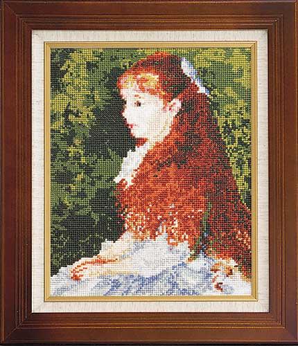 Art Gallery SeriesOlympusクロス刺繍キット880「イレーヌ・カーン・ダンヴェール嬢」(ルノワール作)