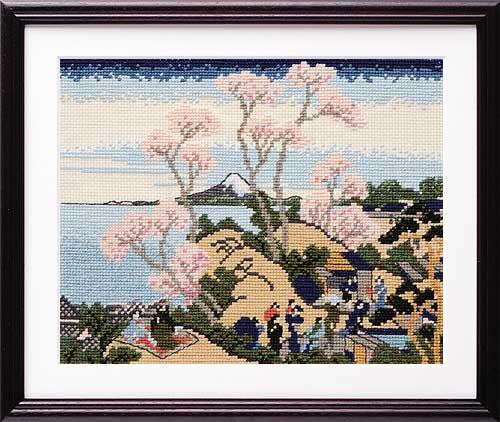 Olympusクロス刺繍キット7139 「東海道品川御殿山ノ不二」
