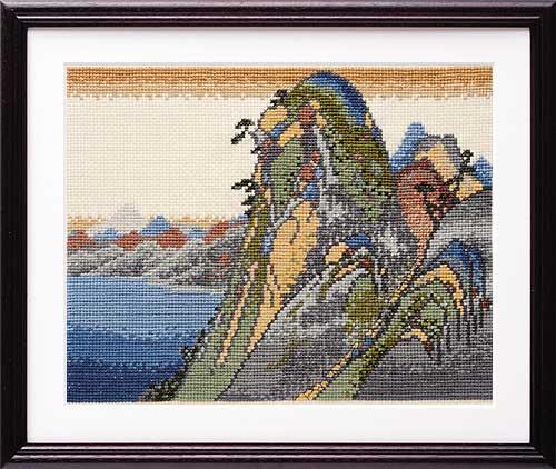 Olympusクロス刺繍キット7140 「箱根(湖水図)」