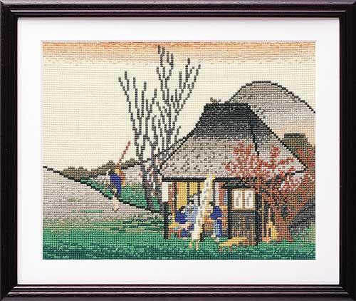 Olympusクロス刺繍キット7141 「鞠子(名物茶店)」