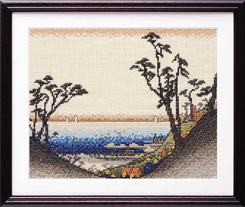 Olympusクロス刺繍キット7142 「白須賀(汐見阪図)」