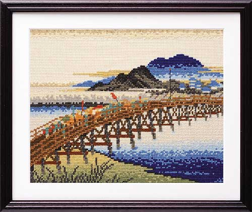 Olympusクロス刺繍キット7143 「岡崎(矢矧之橋)」