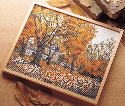 Olympusクロス刺繍キット7108「秋深まる」