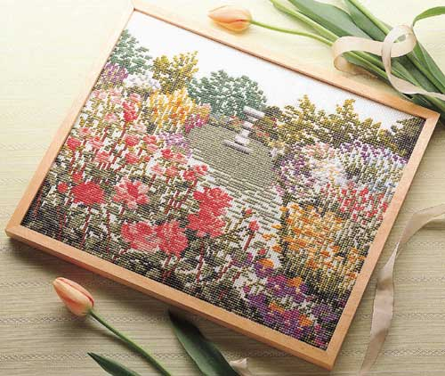 Olympusクロス刺繍キット7109「花咲く庭」