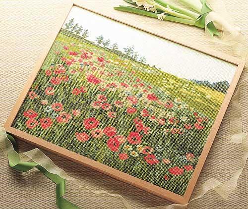 Olympusクロス刺繍キット7111「ポピーの咲く頃」