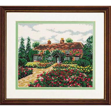 ブリティッシュ・ガーデンOlympusクロス刺繍キット7011「思い出の家」