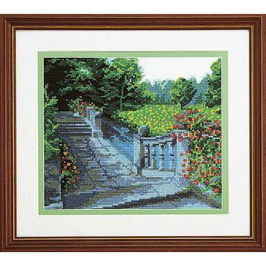 ブリティッシュ・ガーデンOlympusクロス刺繍キット7016「水辺の庭園」