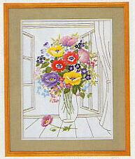 東京文化刺繍キット63「ポピーの花びん」(3号)