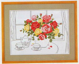 東京文化刺繍キット62「ティータイム」(3号)