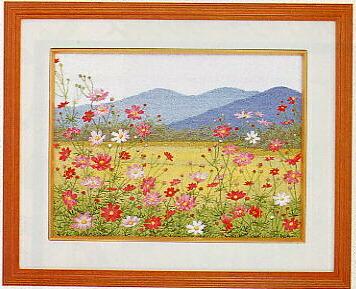 東京文化刺繍キット51「コスモスの里」(3号)