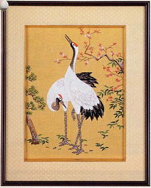 東京文化刺繍キット160「鶴と松竹梅」(3号)