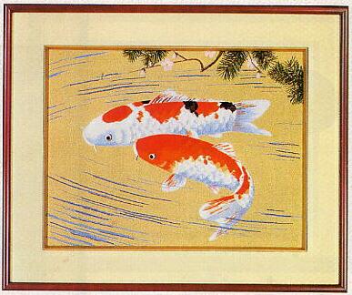 東京文化刺繍キット452「鯉」(4号)