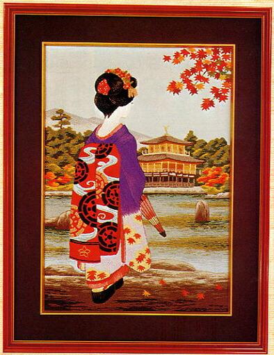 東京文化刺繍キット294「舞妓」(6号)