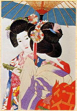 東京文化刺繍キット238「晴着」(6号)