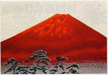 東京文化刺繍キット259「赤富士(1)」(6号)