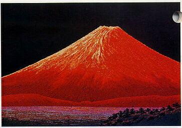 東京文化刺繍キット225「赤富士(2)」(6号)