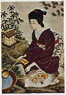 東京文化刺繍キット214「早春の庭」(6号)