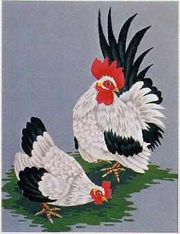 東京文化刺繍キット144「ちゃぼ」(3号)