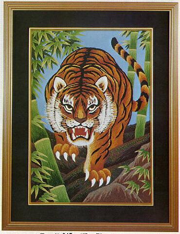 東京文化刺繍キット247「猛虎」(6号)