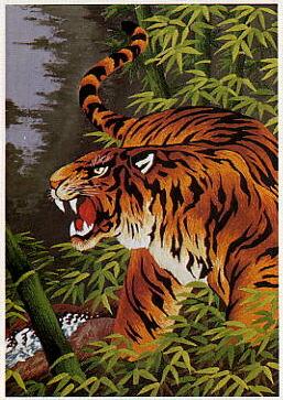 東京文化刺繍キット244「猛虎一声」(6号)