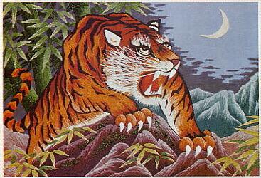 東京文化刺繍キット246「猛虎・牙」(6号)