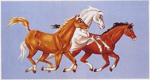 東京文化刺繍キット901「馬」(7号)