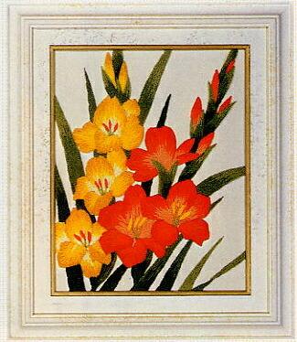 東京文化刺繍キット776「グラジオラス」(1号額付)