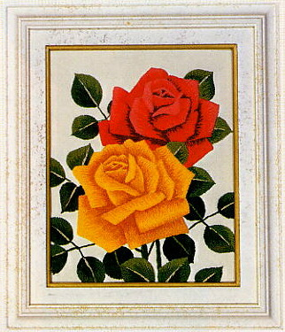 東京文化刺繍キット771「バラ」(1号額付)