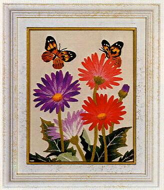 東京文化刺繍キット778「ガーベラ」(1号額付)
