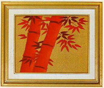 東京文化刺繍キット781「朱竹」(1号額付)