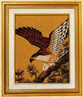 東京文化刺繍キット782「鷹」(1号額付)