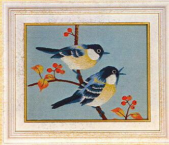東京文化刺繍キット783「小鳥」(1号額付)