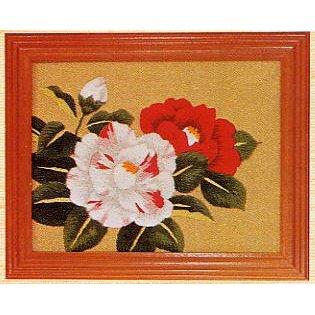 東京文化刺繍キット721「つばき」(1号額付)