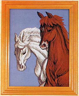 東京文化刺繍キット722「馬」(1号額付)