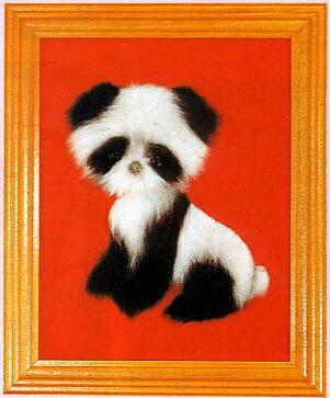 東京文化刺繍キット756「パンダ」(1号額付)