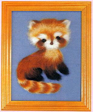 東京文化刺繍キット757「レッサーパンダ」(1号額付)