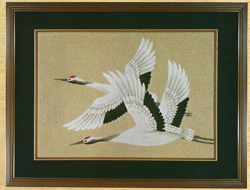 東京文化刺繍キット284「丹頂」(6号)