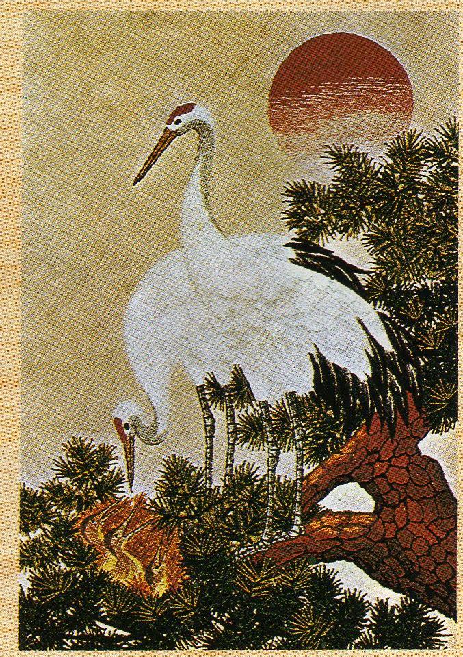 東京文化刺繍キット235「日の出鶴」(6号)